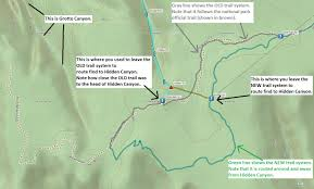 Map Of Zion National Park Bluugnome Com Canyoneering Hidden Canyon Zion National Park