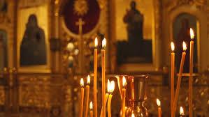 vigil lights catholic church prayer candles in a catholic church stock footage video 752110