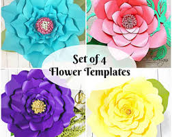 printable large flowers giant paper flowers large printable flower by catchingcolorflies