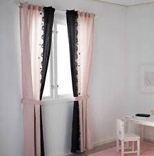 Gray And Pink Curtains Ikea Pink Curtains Drapes Valances Ebay