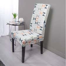 sure fit dining chair slipcovers surefit statement print hugo dining chair cover temple webster