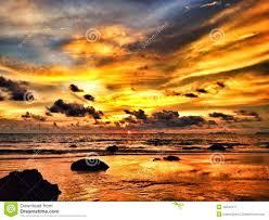 colorful dramatic sunset stock photo image 45044417
