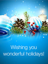 wish you happy holidays season s greetings card birthday