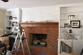 How To Reface A Fireplace by How To Whitewash A Brick Fireplace Erin Spain
