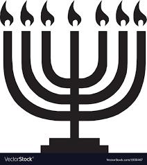 hanukkah menorah hanukkah menorah with candles royalty free vector image
