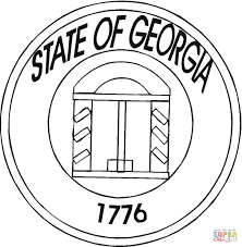 state of georgia coloring page free printable coloring pages
