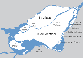 St Lawrence River Map List Of Bridges To The Island Of Montreal Wikipedia