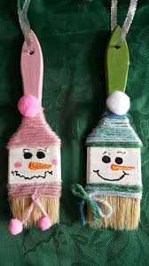 paintbrush ornaments diy decor