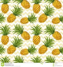 Pineapple Trend by Hand Drawn Seamless Pattern With Pineapple Stock Vector Image