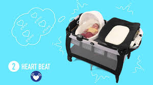Graco Pack N Play Bassinet Changing Table by Graco Pack U0027n Play Newborn Napper With Soothe Surround Youtube