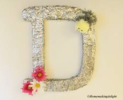 metallic letter diy wall decor easy hand made decorations