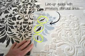 At Home Curtains How To Stencil Drop Cloth Curtains Sondra Lyn At Home