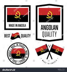 Flag Manufacturers Angola Quality Isolated Label Set Goods Stock Vector 637986949