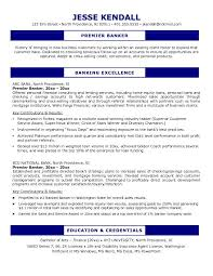 Sample Resume For Bankers by Example Premier Banker Resume Free Sample