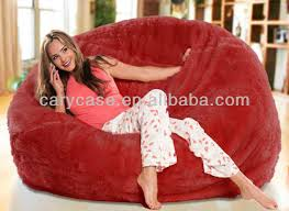 oversized bean bags long fur black beanbag lounger soft and
