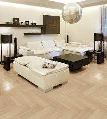 living room white leather sofas wooden coffee table dark