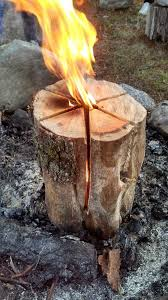 How To Make A Tree Stump End Table by How To Make A Swedish Flame Man Made Diy Crafts For Men