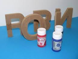 lettre chambre enfant lettres en bois décorées sur le thème de trucs et deco