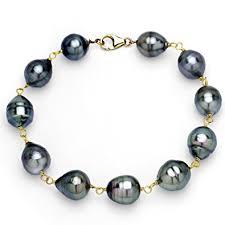 yellow gold pearl bracelet images La regis jewelry 14k yellow gold 8 10mm black baroque jpg
