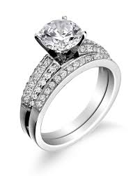wedding band with engagement ring engagement rings wedding bands in battle creek mi king jewelers