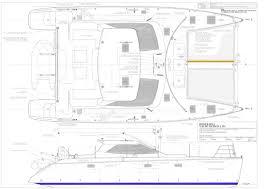 Catamaran Floor Plans by Roger Hill Yacht Design Catamaran Yacht Power Sail Naval