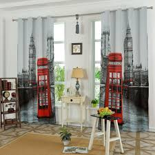colorful patterned print polyester modern room darkening curtains