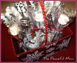 hot chocolate gift basket gift idea diy peppermint hot cocoa stirrers the peaceful