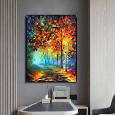 online shop muya large palette knife painting canvas vertical