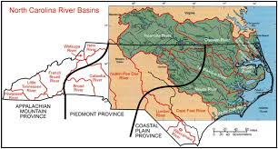 North Carolina rivers images Map of north carolina 39 s geological provinces and drainage basins jpg