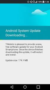 android system update t mobile pushing out android system update android forums at