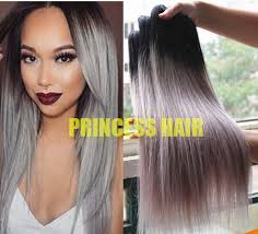 hot hair extensions hot sale silver grey ombre human hair extensions 1b grey