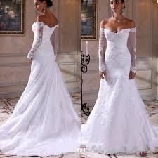 wedding dress hire backless the shoulder sleeve mermaid wedding dress