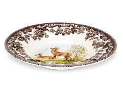 spode woodland soup plate deer spode uk