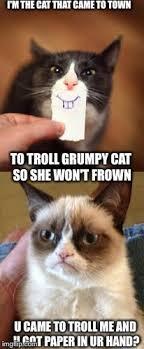 Frown Cat Meme - grumpy cat y u do dis imgflip