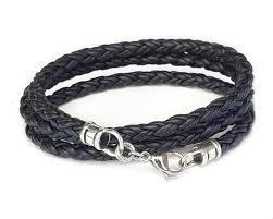 white leather bracelet images Skinny black triple wrap braided leather bracelet lucky dog leather jpg
