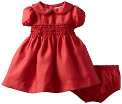 hartstrings baby newborn shantung smocked dress