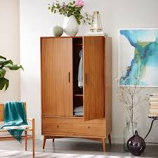 MidCentury Wardrobe Acorn West Elm Home Goods Pinterest - West elm mid century bedroom furniture
