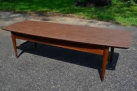 Surfboard Coffee Table Lane Mid Century Coffee Table Modern Glass Top Coffee Table From