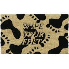 Wipe Your Paws Footprint Doormat Amazon Com Rubber Cal
