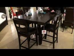 5 pc dining table set 5 pc pendleton square counter height dining table set by standard