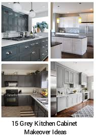 kitchen cabinet makeover ideas 15 grey kitchen cabinet makeover ideas godiygo
