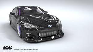 nissan brz black ml24 automotive design prototyping and body kits