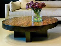 trend reclaimed wood round coffee table 80 for home decorating
