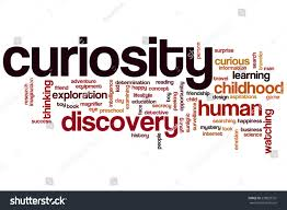 curiosity word cloud concept discovery search stock illustration