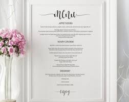 Downloadable Wedding Program Templates Printable Wedding Program Template Diy Wedding Program