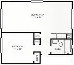 One Bedroom Floor Plans Crescent Square Apartments