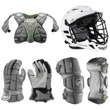 mx lacrosse starter package gloves shoulder pads arm pads u0026 helmet