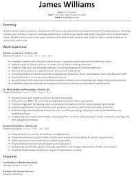 certified medical assistant resume examples medical assistant