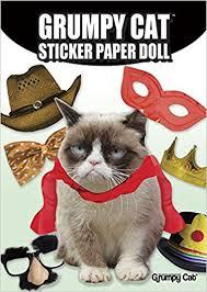 grumpy cat wrapping paper grumpy cat sticker paper doll grumpy cat david cutting