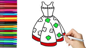 drawing beautiful dress for coloring pages u0026 drawing for